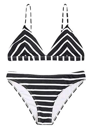 Bikini Size Bagno color 2 Donna A Costumi Home 2 Black Da Con Pezzi Righe Medium 7qtZS7Rrxw