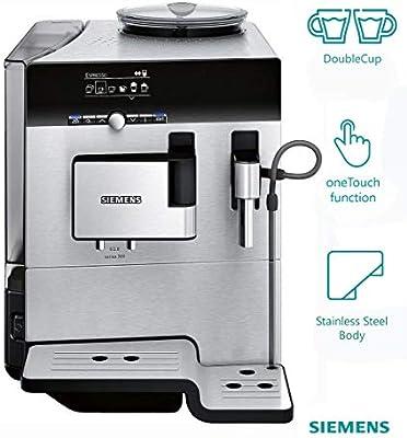 Siemens TE803209RW - Cafetera (Independiente, Máquina espresso, 2,4 L, Molinillo integrado, 1600 W, Negro, Acero inoxidable): Amazon.es: Hogar