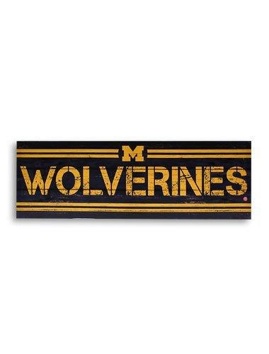 Artissimo NCAA Michigan Wolverines 30x10 Rustic