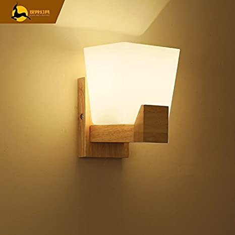 The Nordic bedroom wall lamp bedside lamp led cozy minimalist modern ...