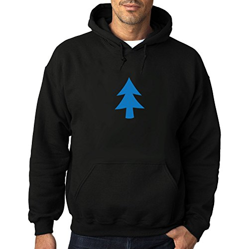 Men's Dipper Blue Tree Athletic Hooded Pullover - Sunglasses L Agent
