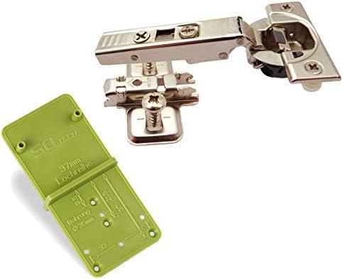 Blum Blumotion Topfband CLIP Top 71B3580 Eckanschlag 110° Automatikscharnier mit Cliptechnik, Schließautomatik und Dämpfer inkl. Ankörnschablone EasyGreen