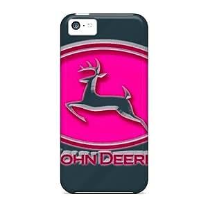 Unique Design Iphone 5c Durable Tpu Case Cover John Deere Pink