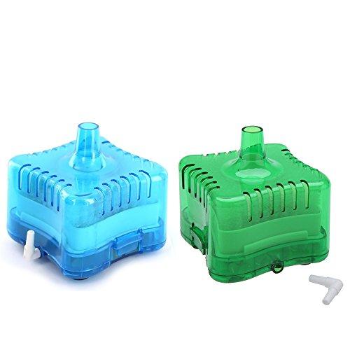 Kangkang@ Mini Fish Tank Aquarium Water Internal Filter Corner Efficiency Filtration with Suction Cup Accessories (blue)