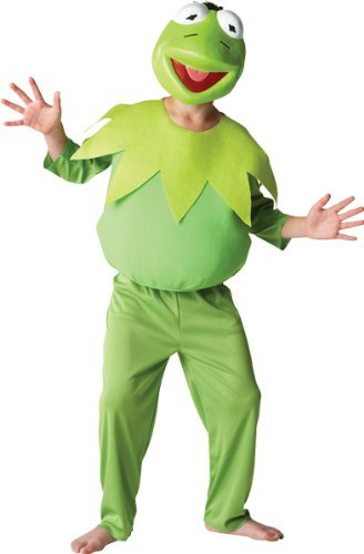 Rubie's Official Disney Muppets Deluxe Kermit Costume - Large, 7-8 Years
