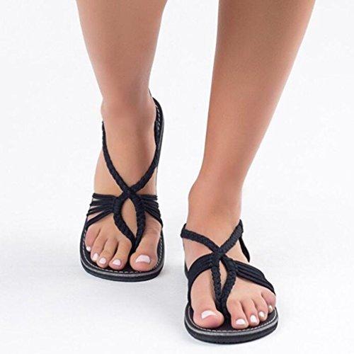Flip Femme Tendance Tongs Jianhui Toe Respirant Chaussons Sandales Antid Flop Peep Bandage rY5YH7Wx