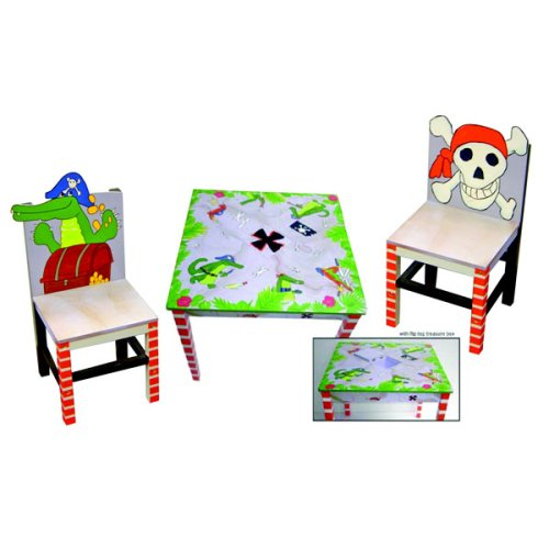 (LC Creations Pirate's Life Table and Set of 2 Chairs)
