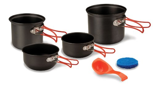 Stansport Hard Anodized Aluminum Cook Set-2 Person ()