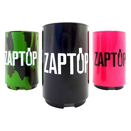 Zaptop Beer Bottle Opener Magnetic Bottle Opener With Cap Catcher - Automatic Bottle Cap Opener - Pop Top Push Down Beer Opener - No Bend or Damage To Caps - -