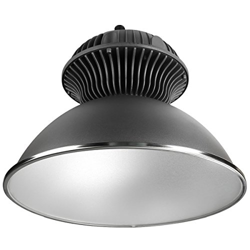 LE High Bay LED Light Fixture with Anti-Glare Reflector, Relacement for 150W MH Bulb, 55W 4800lm, Waterproof IP65, Daylight White, Round Dome, Industrial Lighting for Shop, Garage, Gym, Barn and More