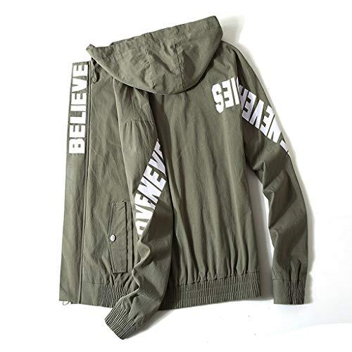 Dikewang Tops Shirt A5aqas Militaire Sweat Men Femme Vert TppEavxwq