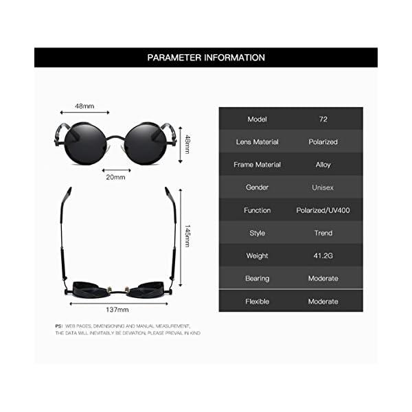0d0326af7e7 Dollger Vintage Steampunk Retro Metal Round Circle Frame Sunglasses ...