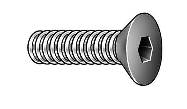 """100 pk. #10-32 x 1-1//4/"""" Black Oxide Alloy Steel Flat Socket Head Cap Screw"""