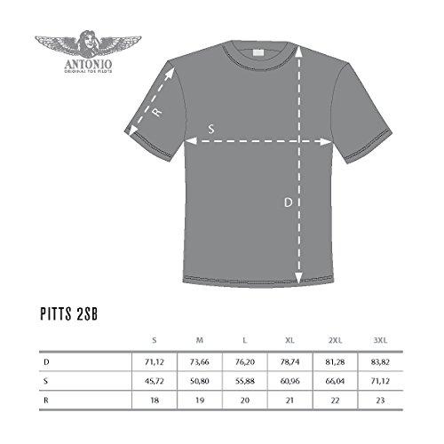 T-Shirt mit Kunstflug-Doppeldecker PITTS S-2SB