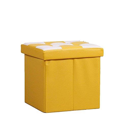 SED Sofa Stool- Storage Sofa Stool Creative Stool Storage Stool Change Shoe Stool (Yellow) (38 38 38cm) -Storage Stool by SED (Image #3)