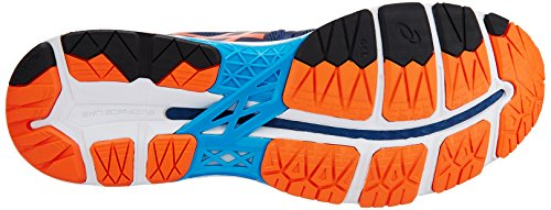 Asics Homme Gel-kayano 23 Poseidon, Flame Orange Et Bleu Jewel Chaussures De Course - 10 Uk / Inde (45 Eu) (11 Us) (t646n.5809)