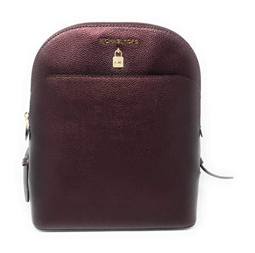 Michael Kors Adele Large Leather Backpack Bag with Lock Detail (Merlot)