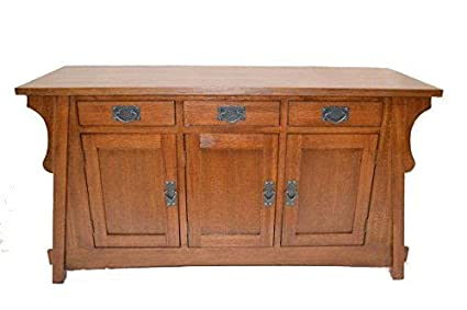 Amazon Com Croftor Arts And Crafts Sofa Table Kitchen Dining