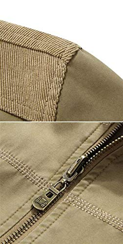 Outerwear Zipper Down Jacket 1 Armee Side Outdoor Grün Jackets Men's Outerwear Long Jacket Unique Sleeve Pockets atTqxwnd
