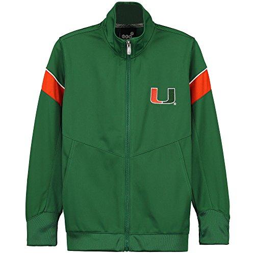 Miami Hurricanes Boys Youth Precision Full-Zip Track Jacket - Green (Yth L - 14/16)