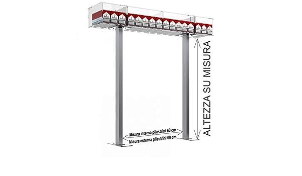 Avà srl Estructura de Puente para mostrador para expositores de cajetillas de 20 Cigarrillos 16 Elementos: Amazon.es: Hogar
