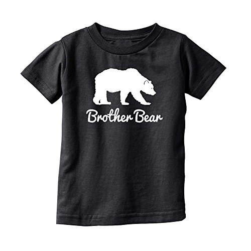Price comparison product image We Match! Brother Bear (White Print) Toddler & Kids T-Shirt (Black, 2T)