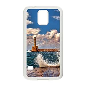 Lighthouse Samsung Galaxy S5 Cell Phone Case White crhw