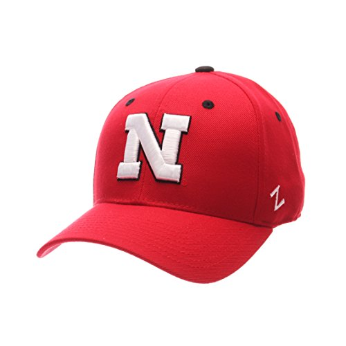 NCAA Nebraska Cornhuskers Men's DH Fitted Cap, Red, Size 7 (Nebraska Fan)
