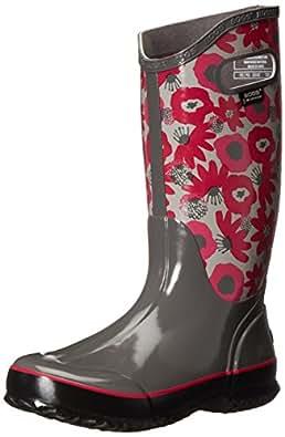 Amazon Com Bogs Women S Watercolor Rain Boot Gray Multi