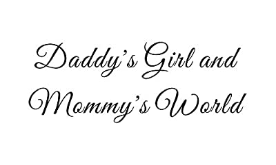 Daddy's Girl and Mommy's World Home Family Bedroom Nursery Baby Mural DIY Vinyl Quote Saying Wall Sticker Decals Transfer Removable Words Lettering