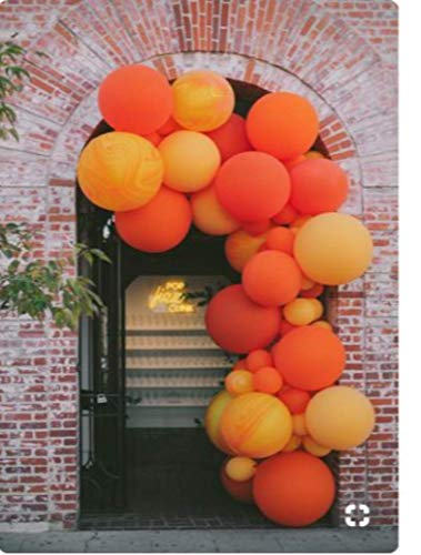 PartyWoo Orange Yellow Balloons, 70 Pcs 12 Inch