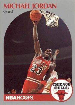 Michael Jordan 1990-91 Hoops Basketball Card #65
