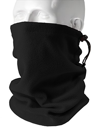 H2H SPORT Mens Thermal Fleece Neck Warmers Scarf BLACK US ONESIZE/Asia ONESIZE (KMASC017)