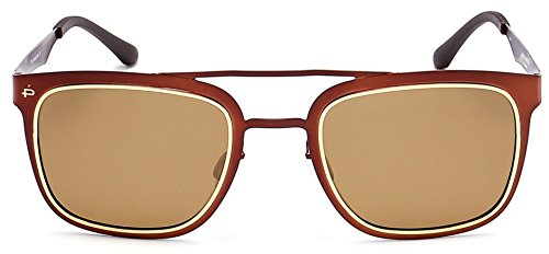 "Copper Polarized Frame - PRIVÉ REVAUX ""The Assassin"" Handcrafted Designer Polarized Retro Sunglasses For Men & Women (Copper)"