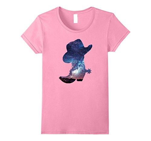 Womens Women's Western Wear T Shirt Gift Idea Cowgirl Large (Cowgirl Womens Pink T-shirt)