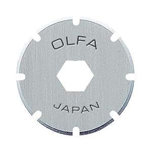 Olfa PRB18-2 - Pack de 2 cuchillas circulares perforadoras de 18 mm, para cúter PRC-2