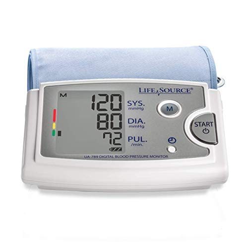 LifeSource Premium Upper Arm Blood Pressure Monitor with XL Cuff - Cuff Arm Blood Monitor Pressure