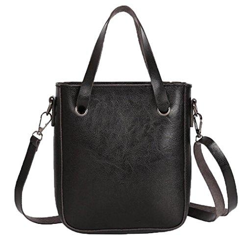 For Gray Shoulder Zipper Leather Girls Retro Black PU Women Handbag NXDA Bag Tote and Messenger Bag Bag Crossbody WqaA7nwp