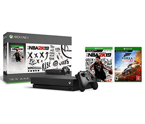 Xbox One X 4K HDR Enhanced Forza Horizon 4 NBA 2K19 Bonus Bundle: Foza Horizon 4, NBA 2K19, Xbox One X 1TB Console – Black