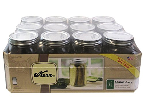 one quart wide mouth mason jars - 1