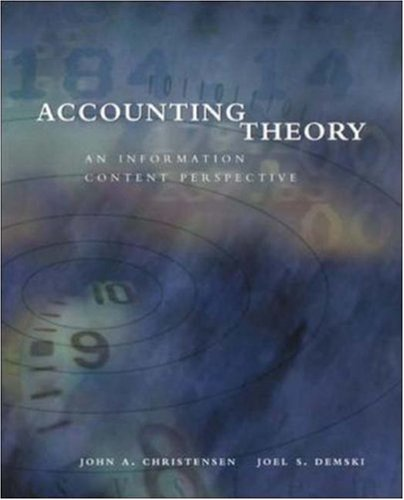 Accounting Theory: An Information Content Perspective