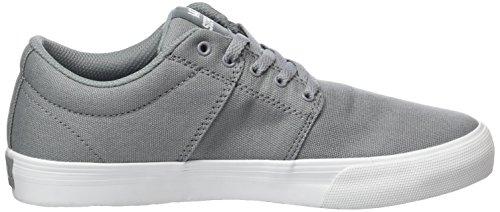 Supra Unisex-Kinder Stacks Vulc II Sneaker Grau (Grey - White)