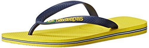 - Havaianas Mens Brazil Logo Sandal Citrus Yellow, Citrus Yellow, 45/46