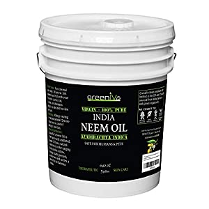 Greenive - Neem Oil - 100% Organically Grown Neem Oil - Cold Pressed Virgin Neem Oil - Exclusively on Amazon (640 Ounce (5 Gallon)) 138