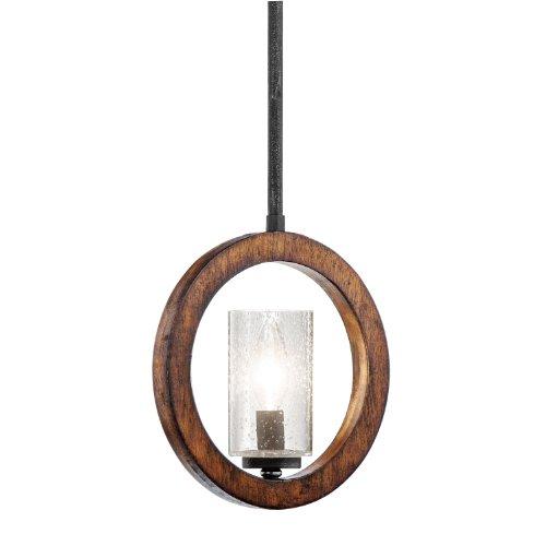 Kichler 43189AUB Grand Bank Mini Pendant/Wall 1-Light, Auburn Stained Finish - Auburn Stained Glass