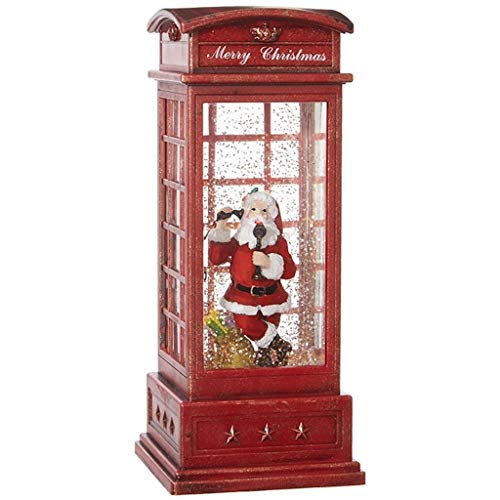 RAZ Imports 10'' SANTA IN LIGHTED WATER BOOTH by RAZ Imports