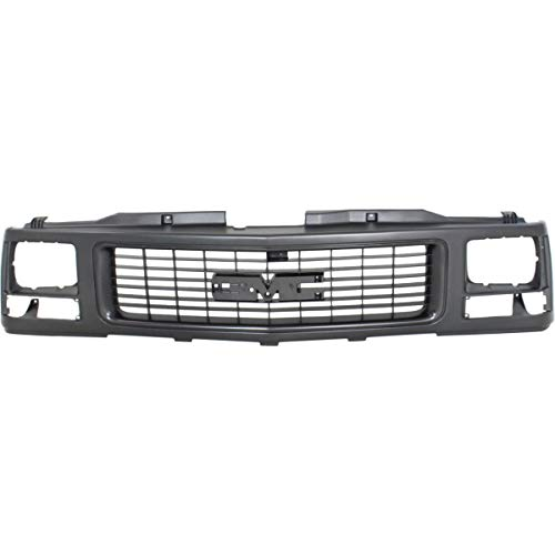 Single Sealed Beam - New Grille For 1988-1993 Gmc C/K Fullsize Pickup Paint To Match, With Single Sealed Beam Headlight Holes GM1200356 15986073