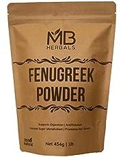 MB Herbals Fenugreek Seeds Powder 1 lb   16 oz   454 Gram   Trigonella foenum-graecum Sd.   Methi Powder   Spice Indian Cuisine   Hair Care   Improves Digestion