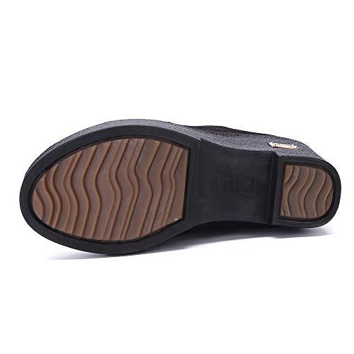 Femmes Latral Large Extra Caf clair Fermeture Mi Neige De Chaud Lhwy Bottes Respirant Chaussures Coton Hiver Cuir Automne En mollet Doux dW0PR4v8