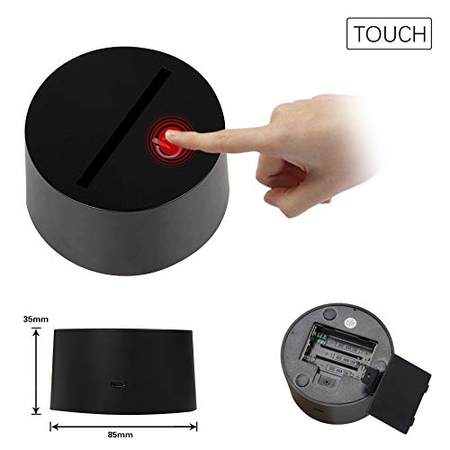 3d Fortress Battle Royale LED Lamp Lights Changeable USB Touch Lampada 3D Visual Bulbing lampen Children's Room Decor Holiday Light (black Fortress gun) by HOOFUN (Image #7)